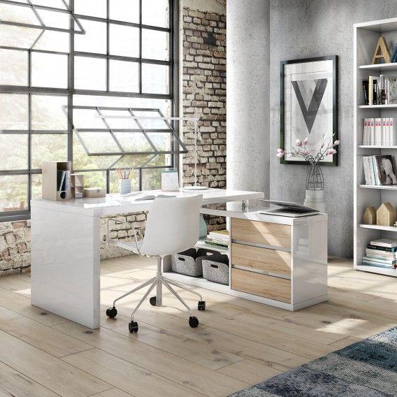 Eckschreibtisch Teshie I Kaufen Home24 Eckschreibtisch Buromobel Design Haus Umbau