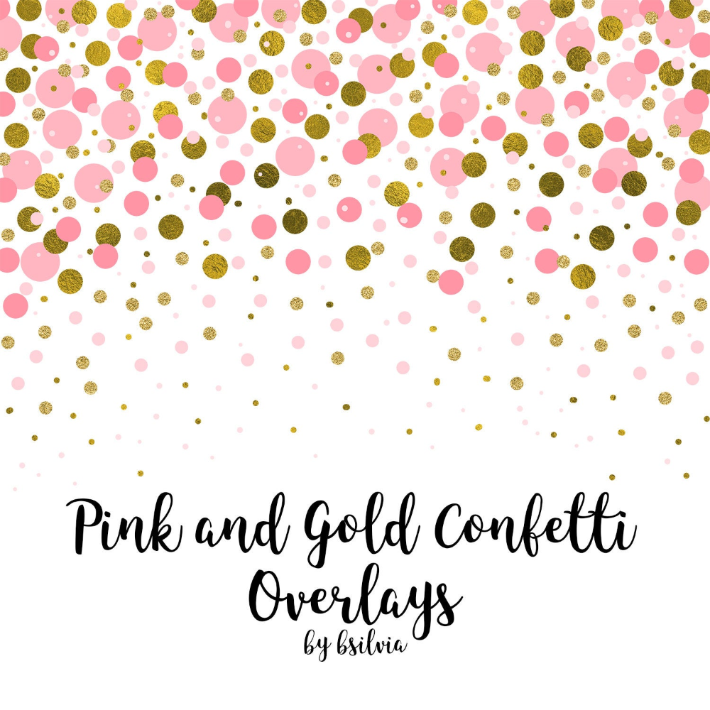 Pink And Gold Confetti Overlays Gold Confetti Transparent Png Etsy Confetti Background Gold Glitter Background Pink And Gold