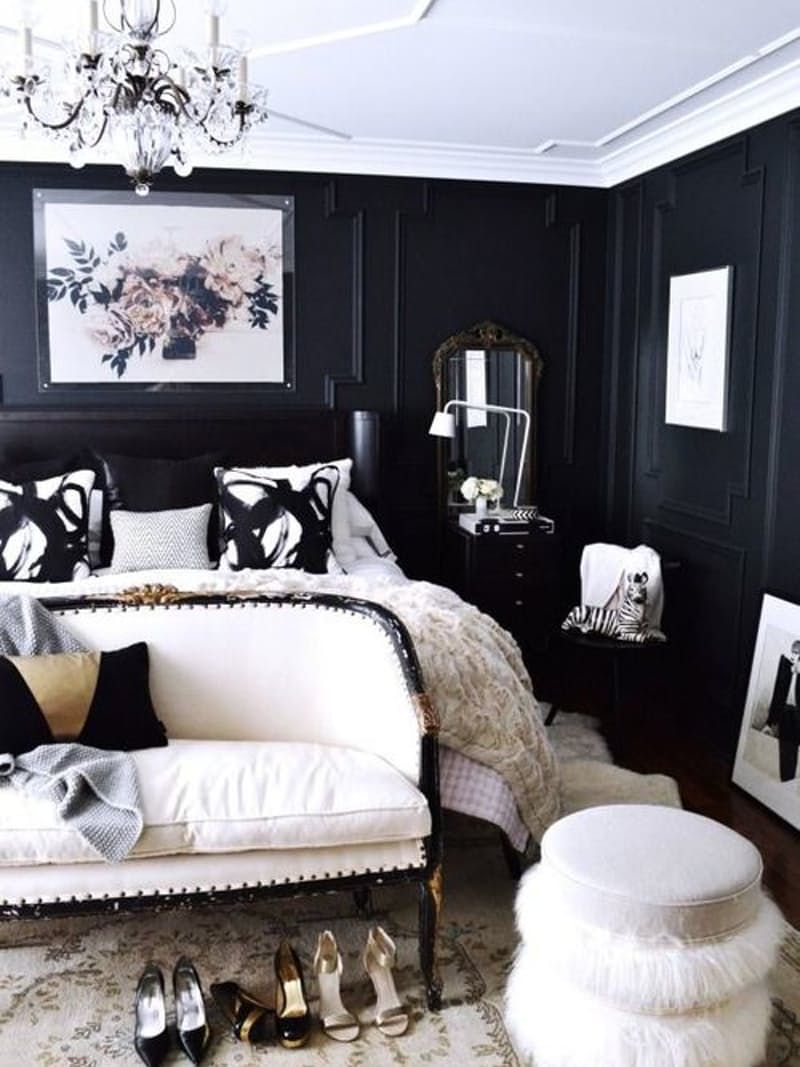 black and gray bedroom decor