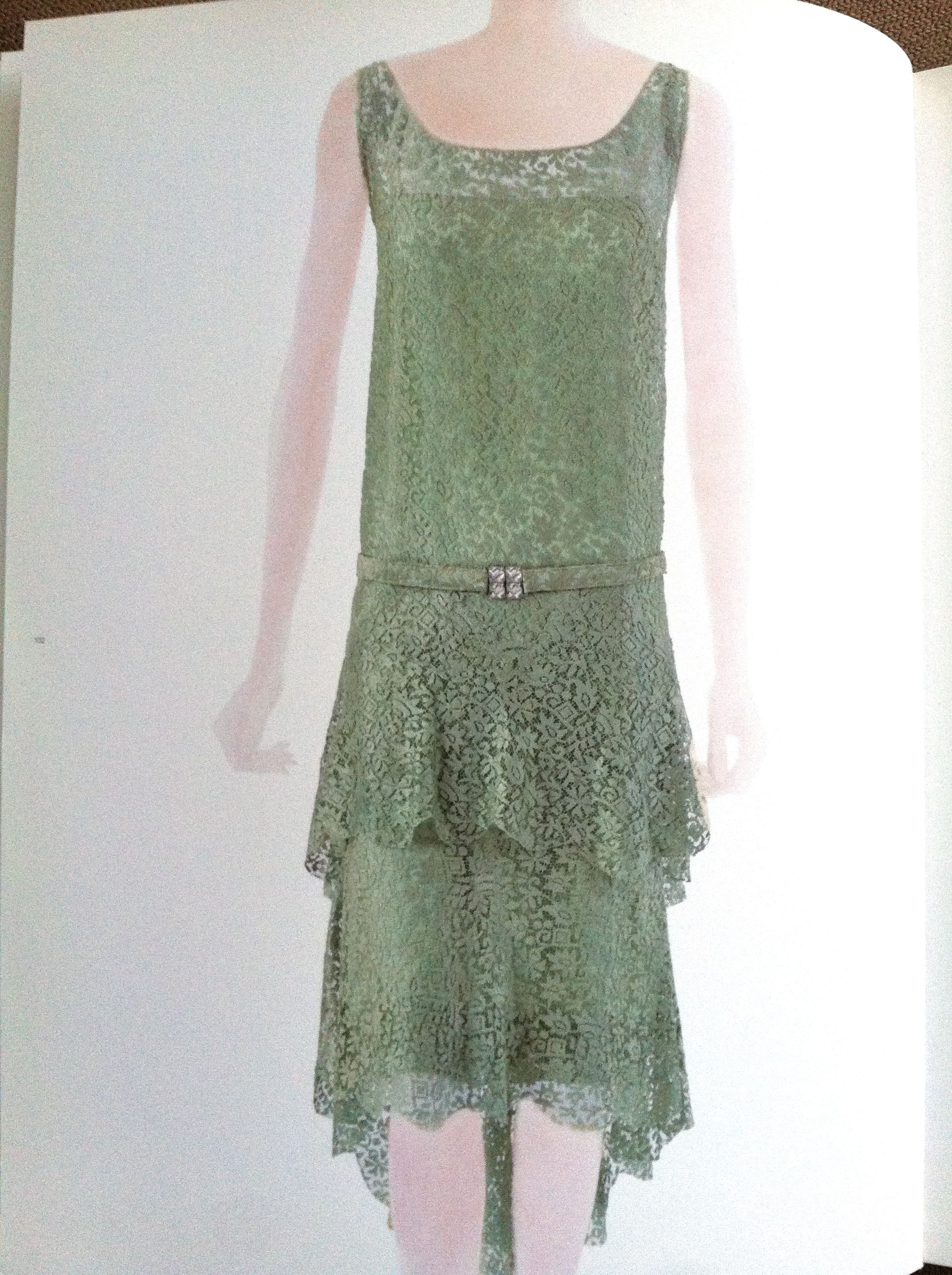 chanel 1920s lace dropped waist dress research hay