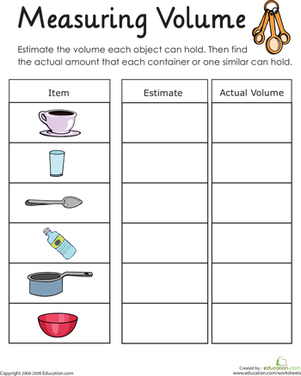 Measuring Volume: How Much Liquid Can it Hold? | Cranbury ...