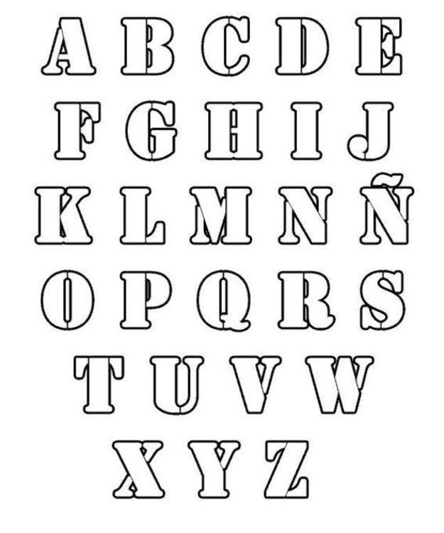 Moldes letras bonitas abecedario  Imagui  Coloring Pages