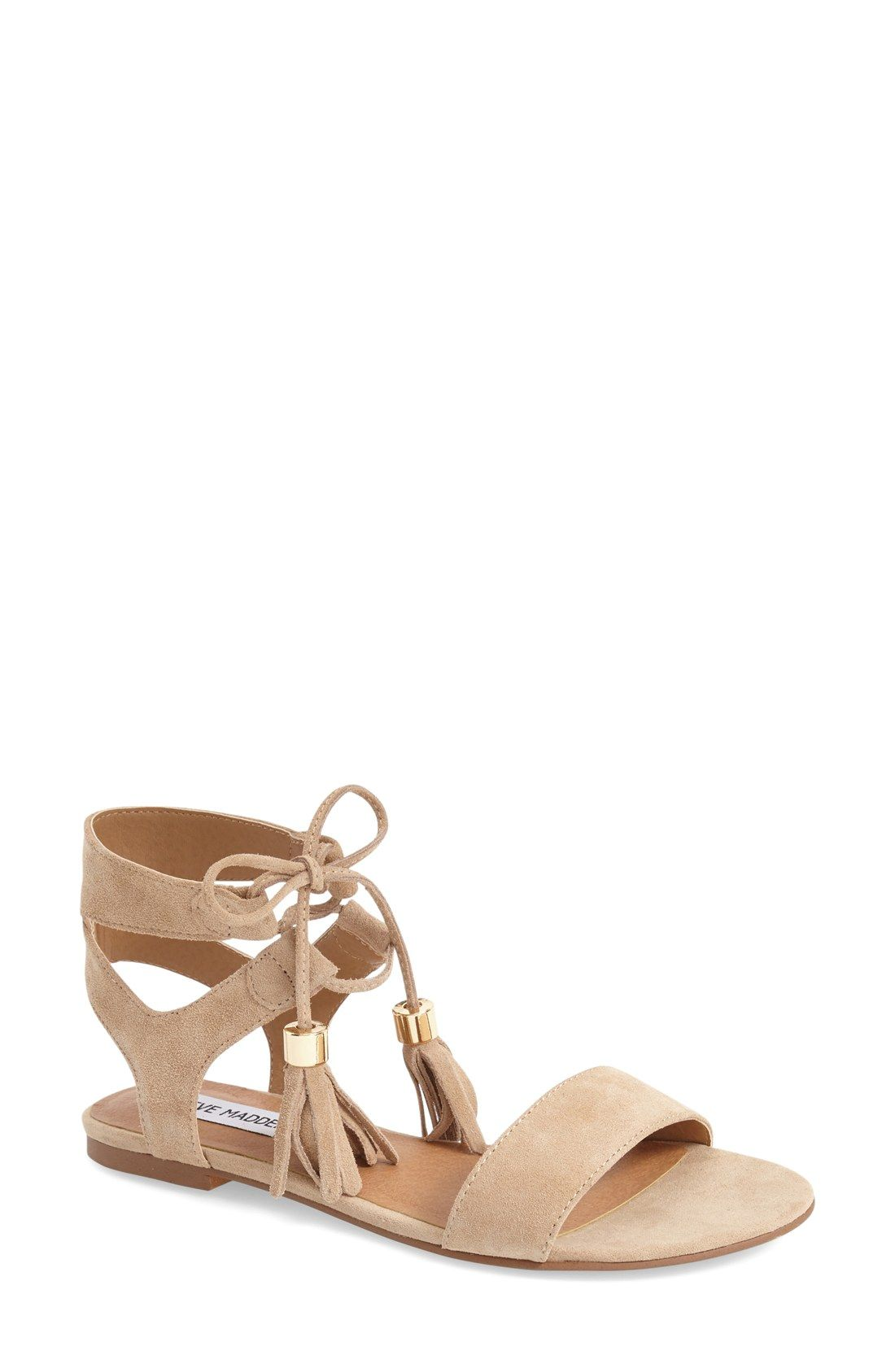 8cb5acb04 Head over heels for these trendy sandals with chic lace-up details ...