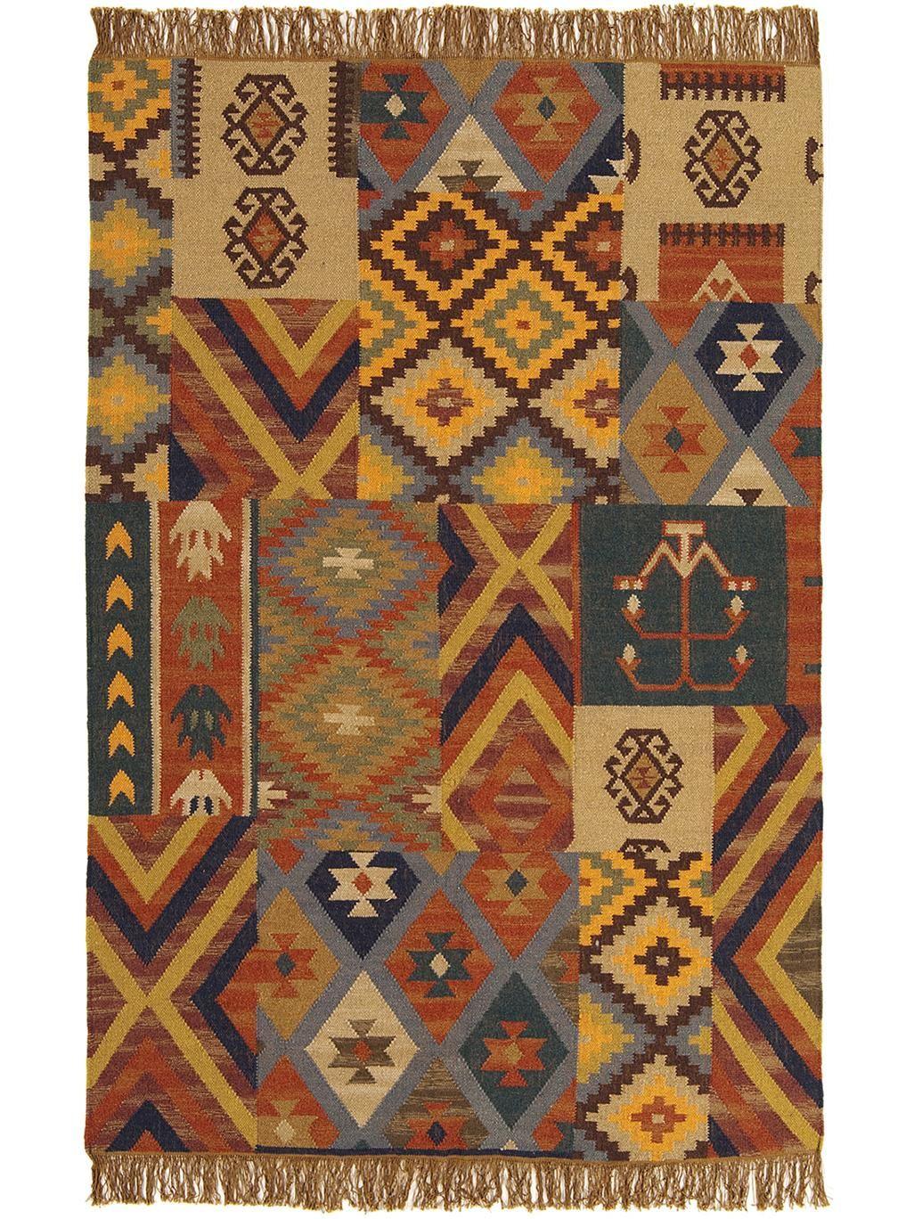 Der Teppich Kilim von benuta verbindet bunte Farben und ...