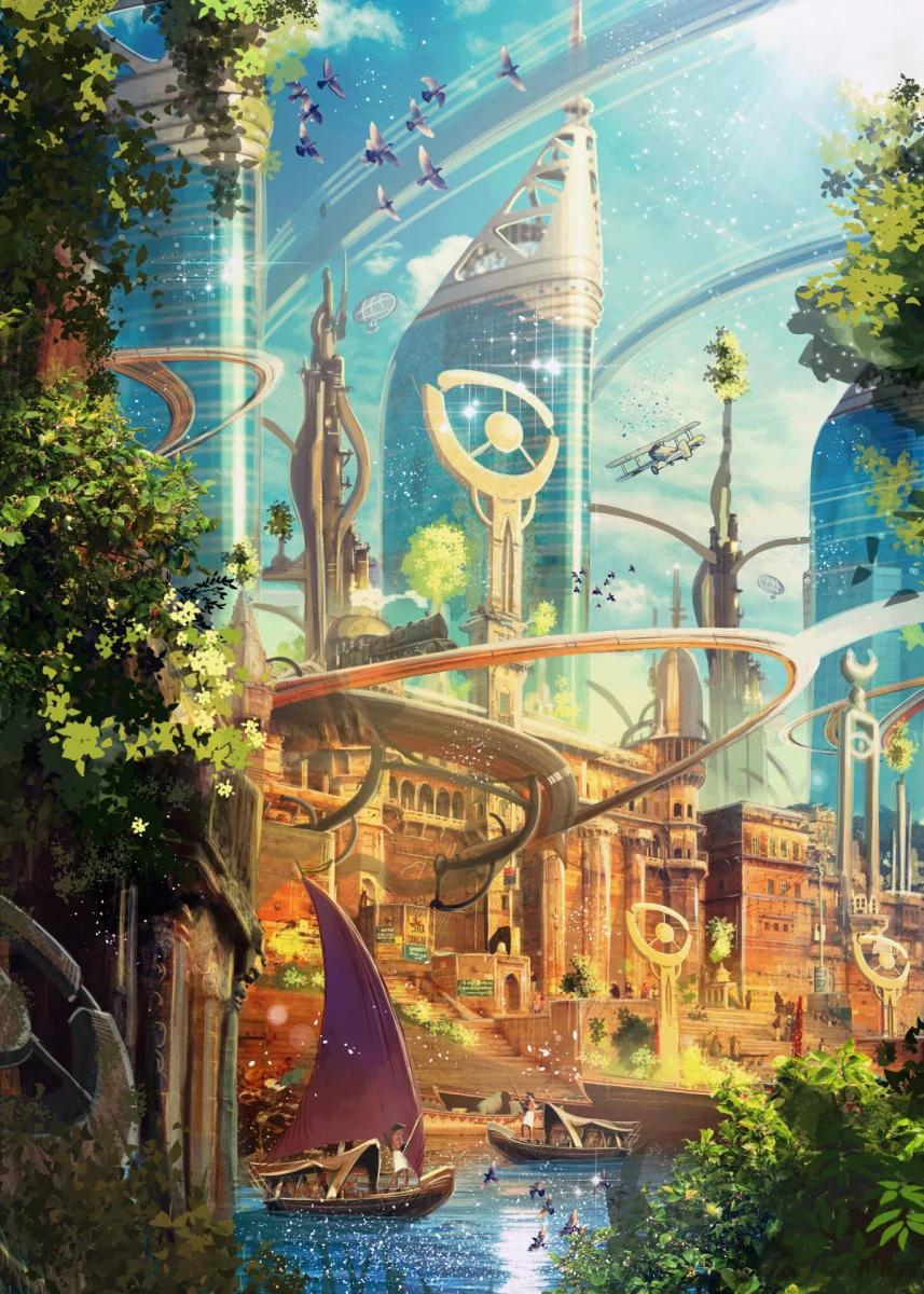 'Karma Planet' Poster Print by Luis Peres | Displate