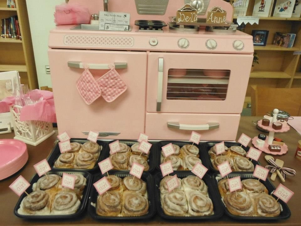 Bun in the oven baby shower centerpiece is a pink wooden