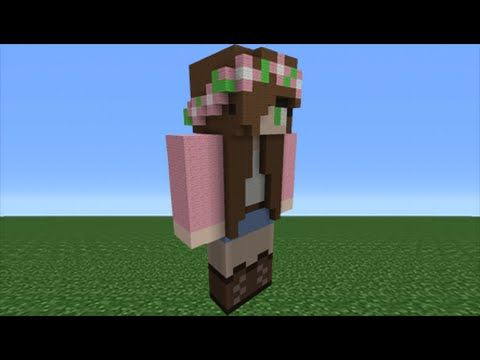 Minecraft Tutorial How To Make A Little Kelly Statue Youtuber - Minecraft hauser anleitung