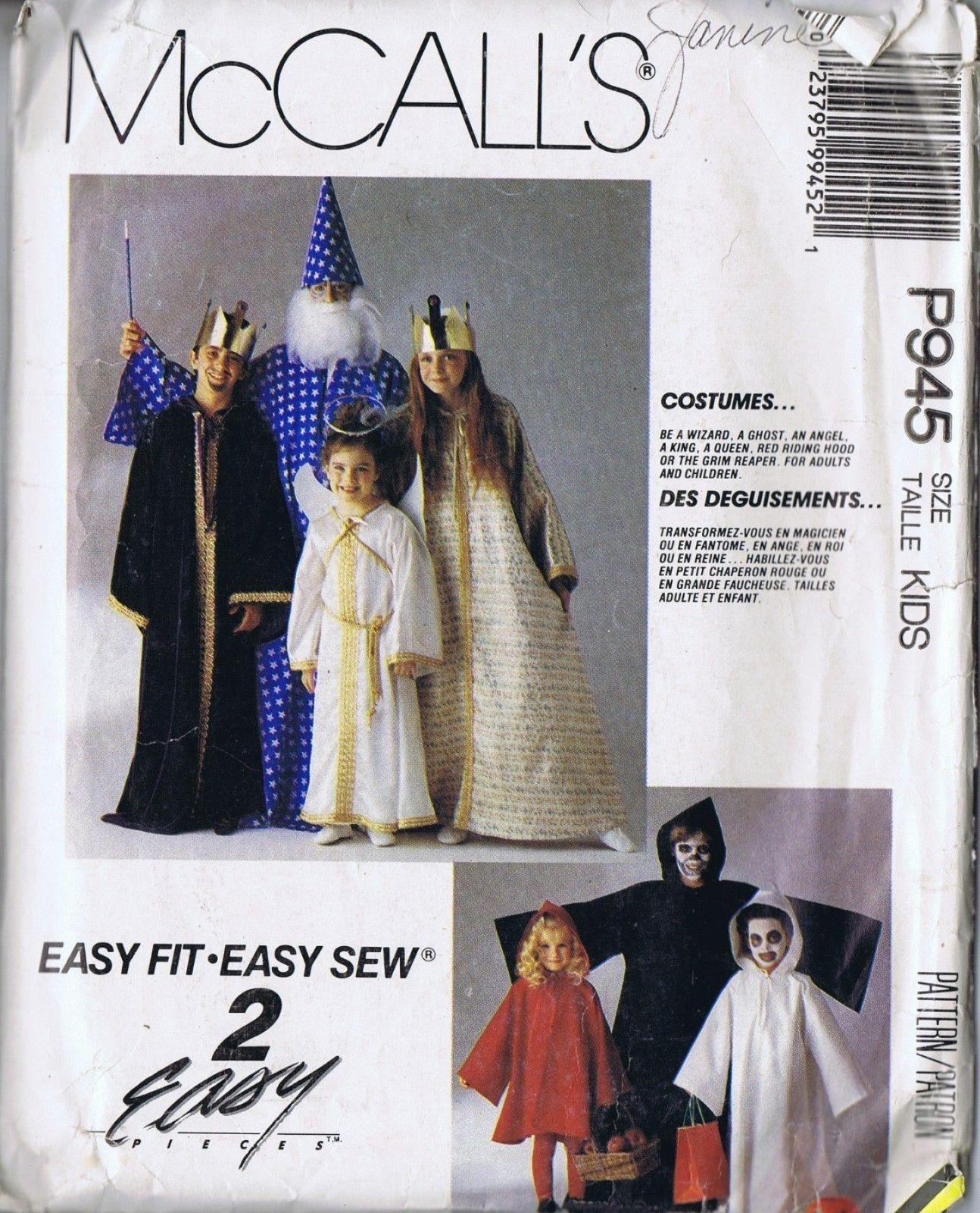 Wizard pirate angel costume girl boy sewing pattern 945 mccalls 2 wizard pirate angel costume girl boy sewing pattern 945 mccalls 2 12 s lg jeuxipadfo Choice Image