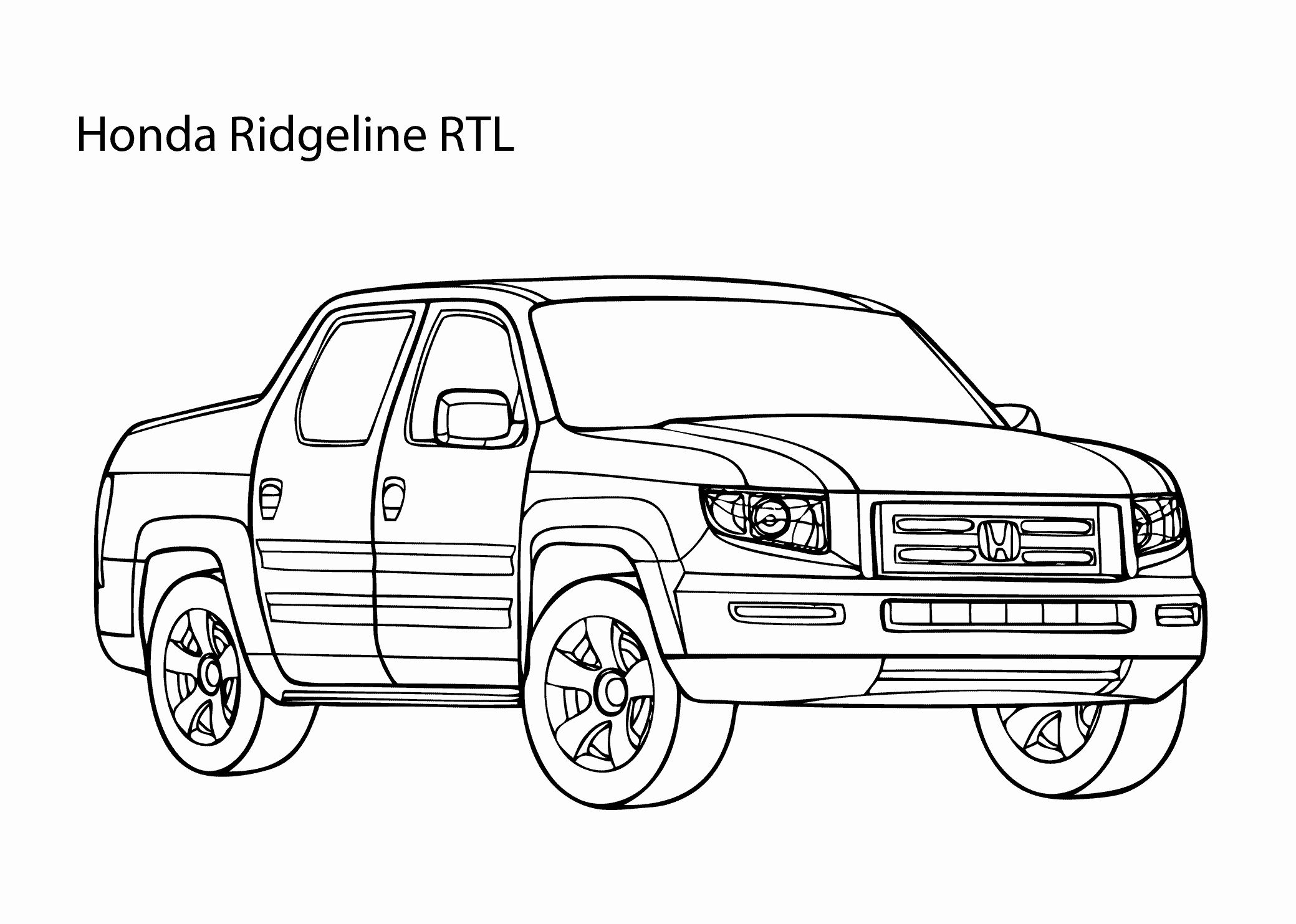 Car Drawing Book Kids Unique Super Car Honda Ridgeline Coloring Page Cool Car Printable In 2020 Truck Coloring Pages Honda Ridgeline Cars Coloring Pages