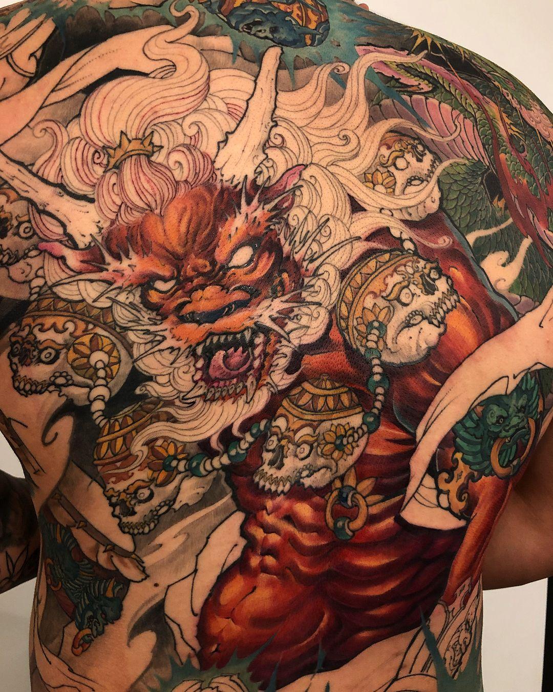 Raijin and dragon for zhouz139 in progress chronicink
