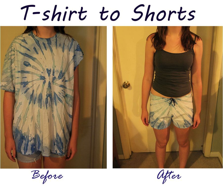 Make a pair of comfy shorts out of an old t shirt shorts for Easy to make t shirt dress