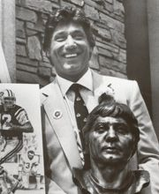 Vintage 1985, Joe Nameth named to the Pro Football Hall of Fame, NYC, www.RevWill.com