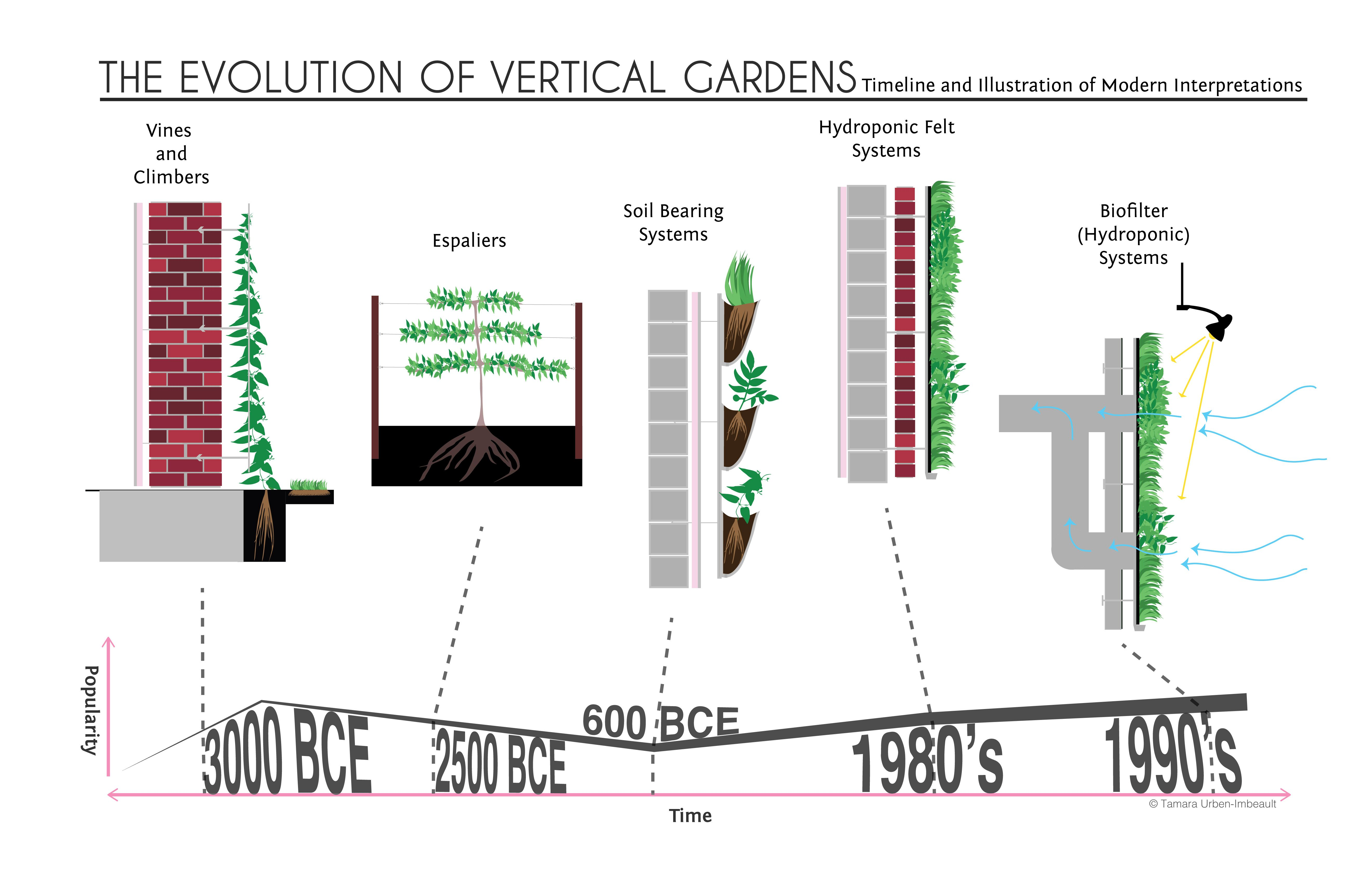 a history of vertical gardens from simple vines to hydroponic systems land8 vertical gardens. Black Bedroom Furniture Sets. Home Design Ideas