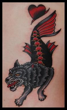 Seawolf Tattoo : seawolf, tattoo, Tattoo..., Tattoo,, Traditional, Tattoos