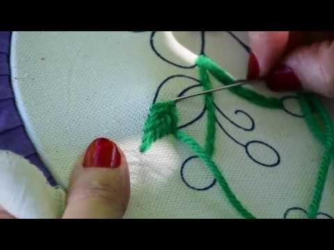 3 como hacer punto relleno y punto realce en bordado for Como hacer alfombras en bordado chino