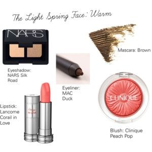 The Light Spring Face Warm With Images Light Spring Palette