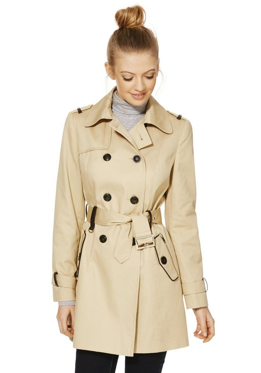 730569bff0 Clothing at Tesco | F&F Shower Resistant Trench Coat > coatsjackets > Women's  Coats & Jackets > Women