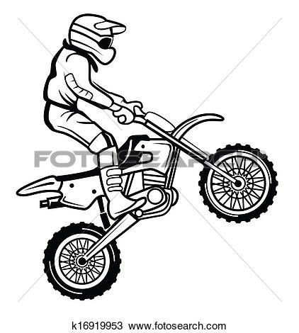 Moto Cross View Large Clip Art Graphic Bike Drawing Clip Art Motorcycle Drawing