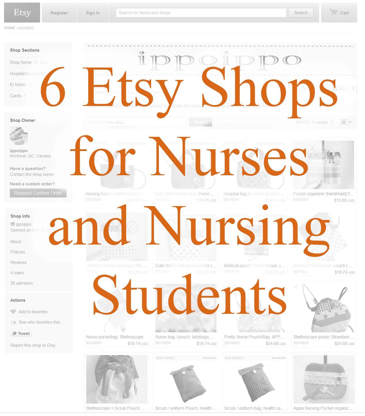 6 Etsy Shops for Nurses and Nursing Students | ICU nursing ...