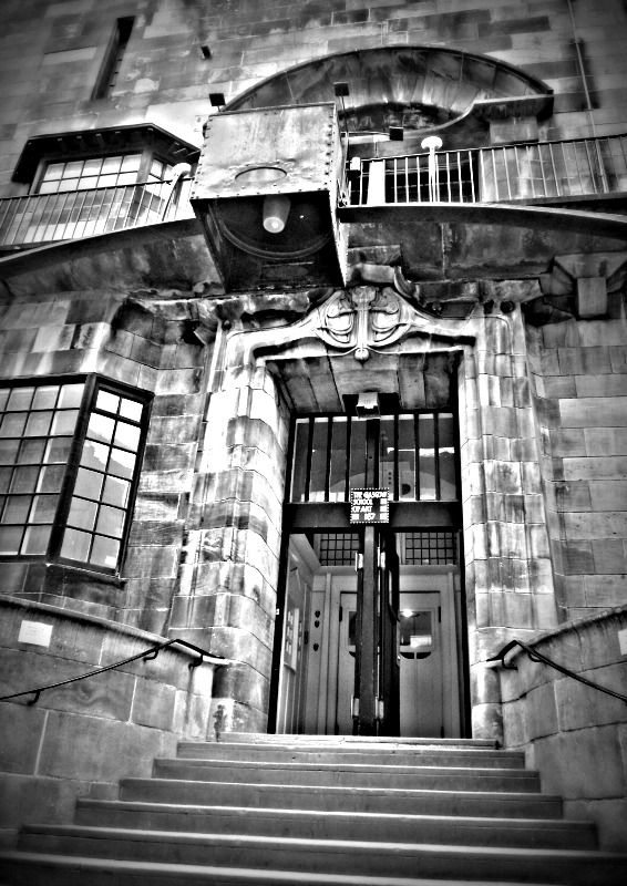 Entrance to the glasgow school of art