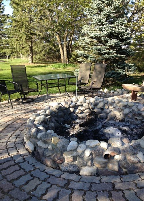 My Field Stone Fire Pit Diy Outdoor