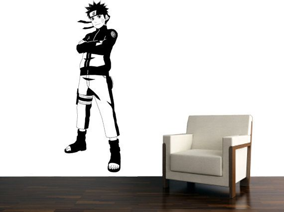 Anime Wall Art naruto anime vinyl art - wall art and design - size 22x66