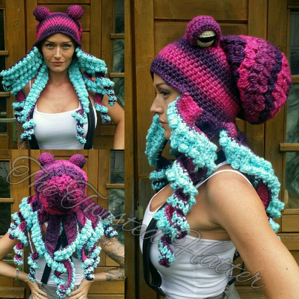 Octopus-Mütze #crochetoctopus