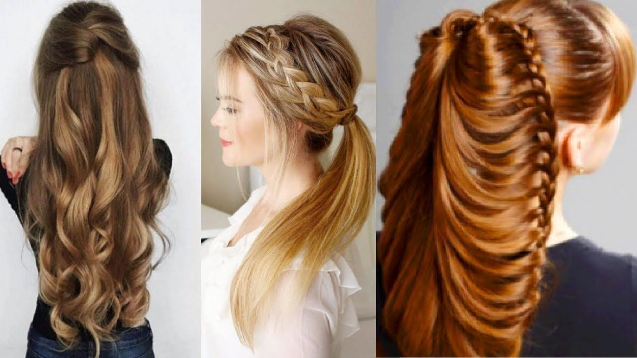 Hairstyles For Long Hair Simple Simple 45 Kinds Of Cute Easy