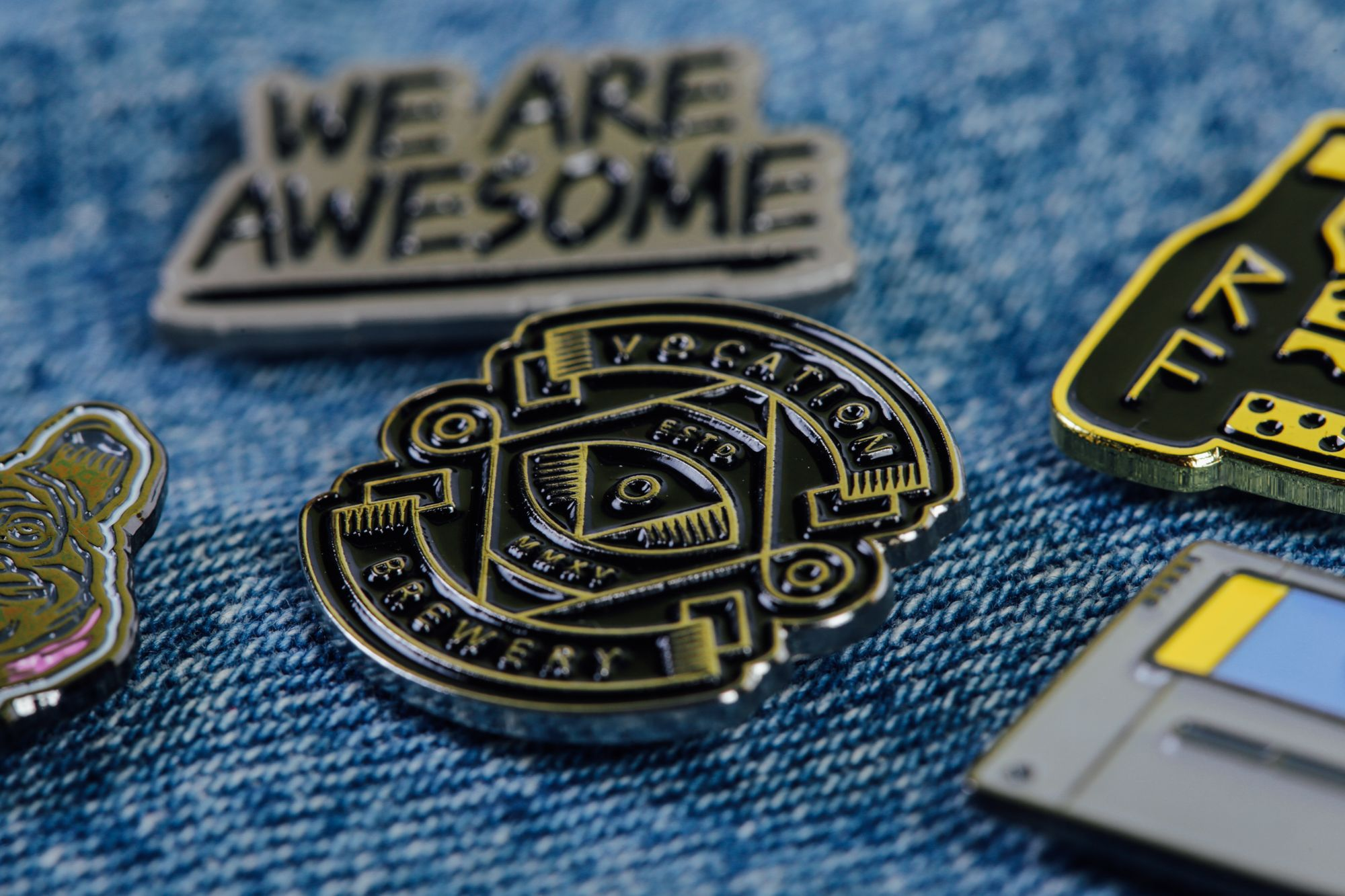 Vocation Brewery Enamel Pin Badge Enamel Pins Enamel Pin Badge