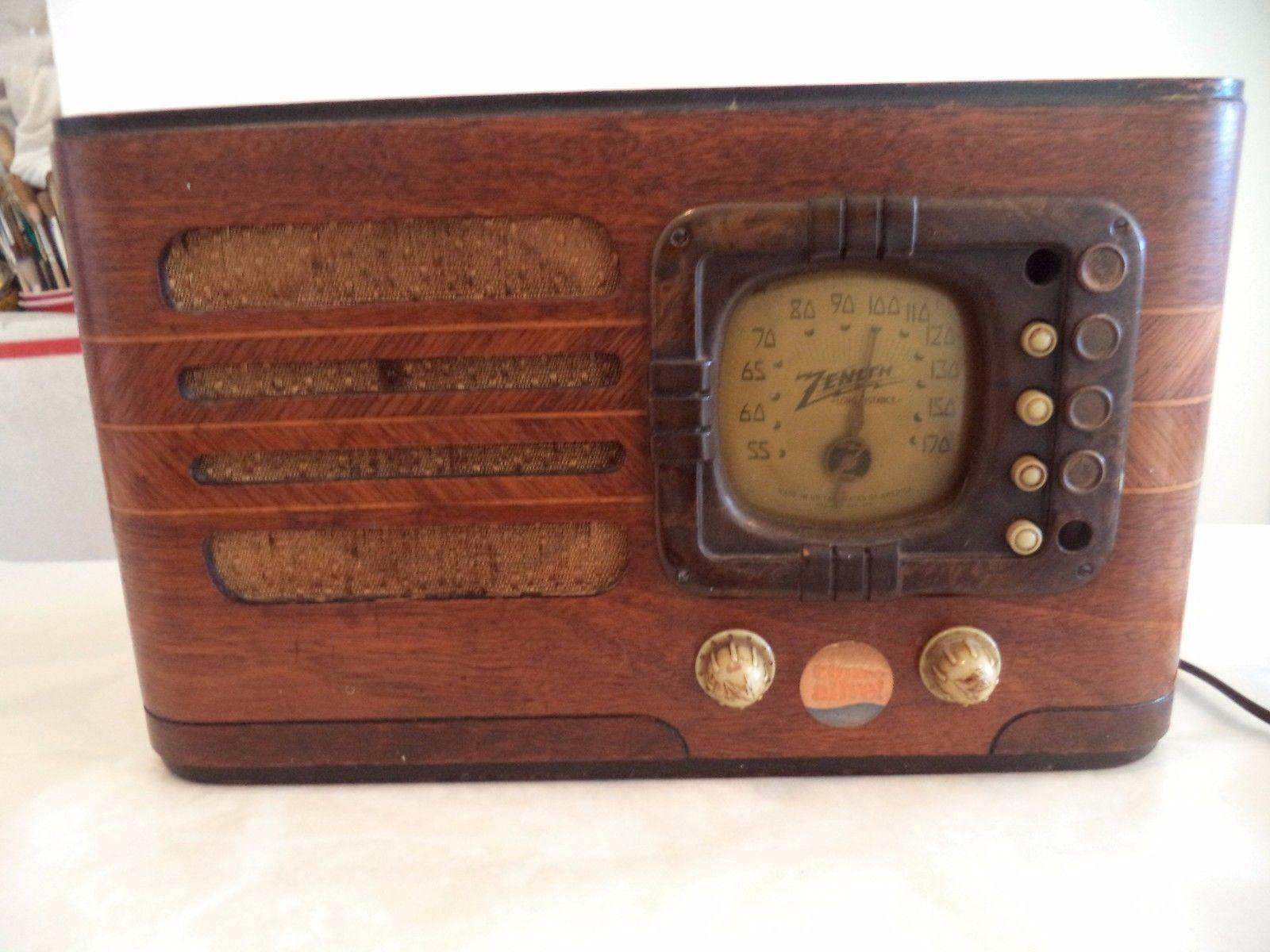 Fabulous 1939 Zenith Wooden Tube Radio Model 6d316 As Is For Parts Repair Ebay Radio Vintage Wood Repair