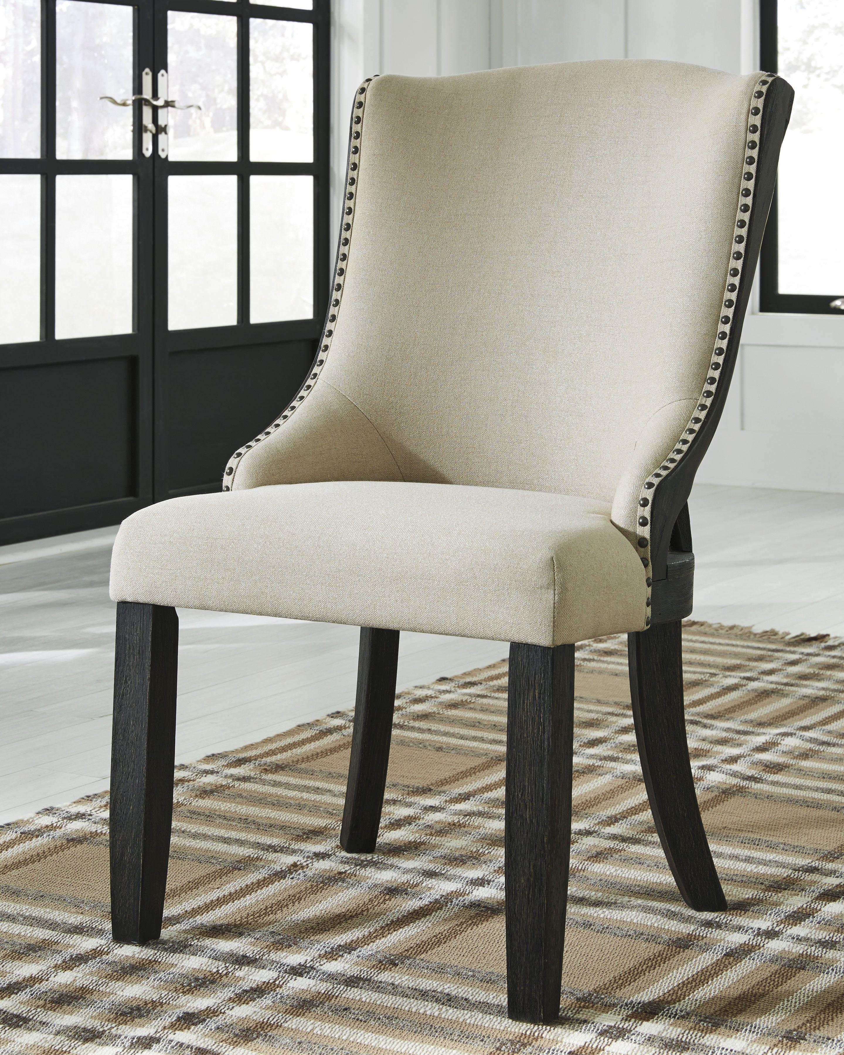 Grindleburg Dining Room Chair Set Of 2 Black Tan