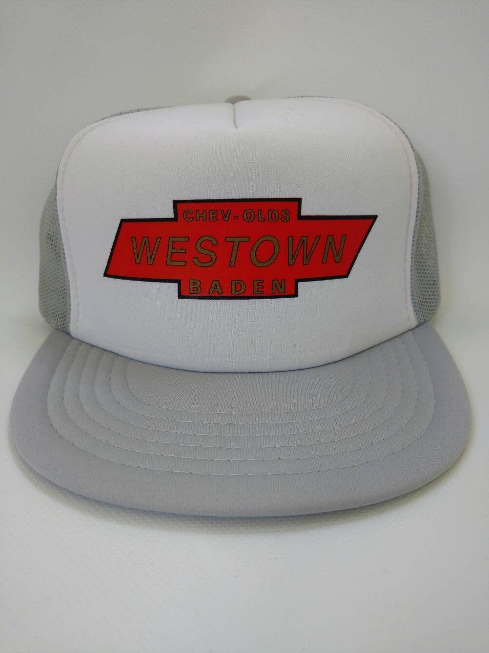 46113f6405f Chev-Olds Westown Baden Trucker Hat Snapback Cap Retro Vintage by  AllTheRageVintageCA on Etsy