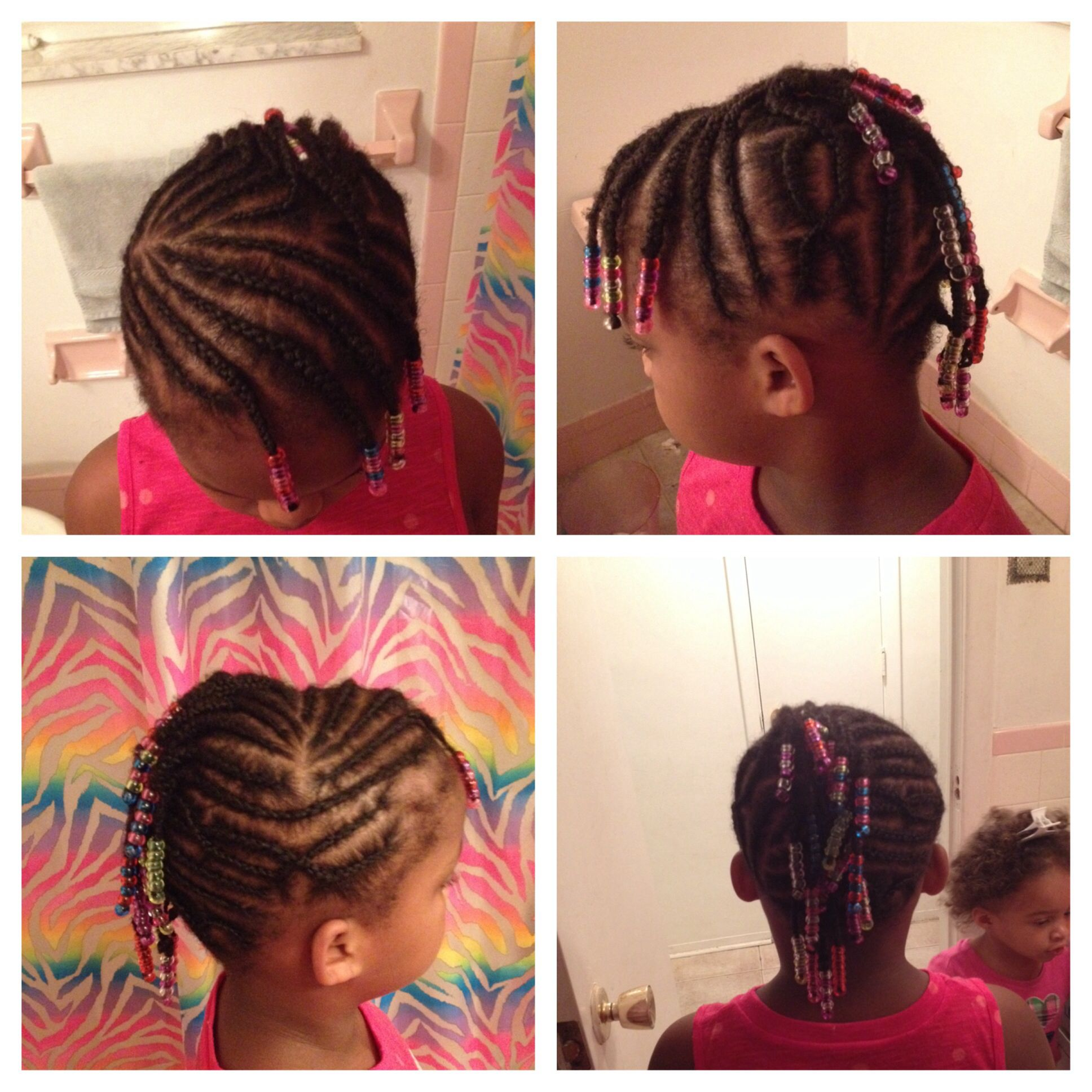 Mohawk with braids and beads for a girl styles for ki pinterest