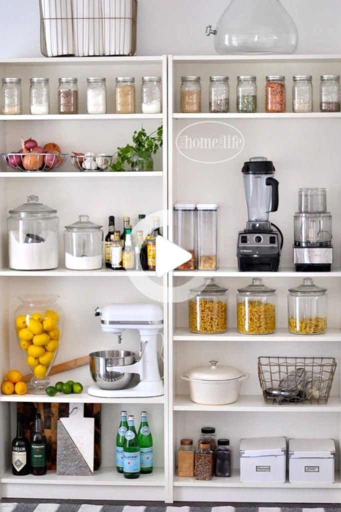 Garde Manger Ouvert Utiliser Bookshelves En 2020 Cuisines Design Cuisine Ikea Rangement Cuisine