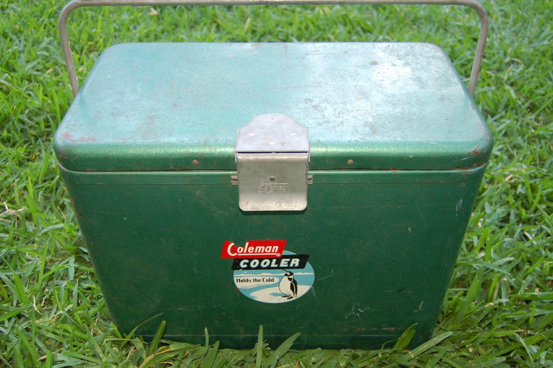 Old School Vintage Coleman Cooler