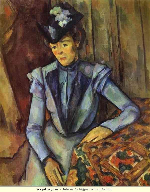 Paul Cézanne. Lady in Blue. Olga's Gallery.