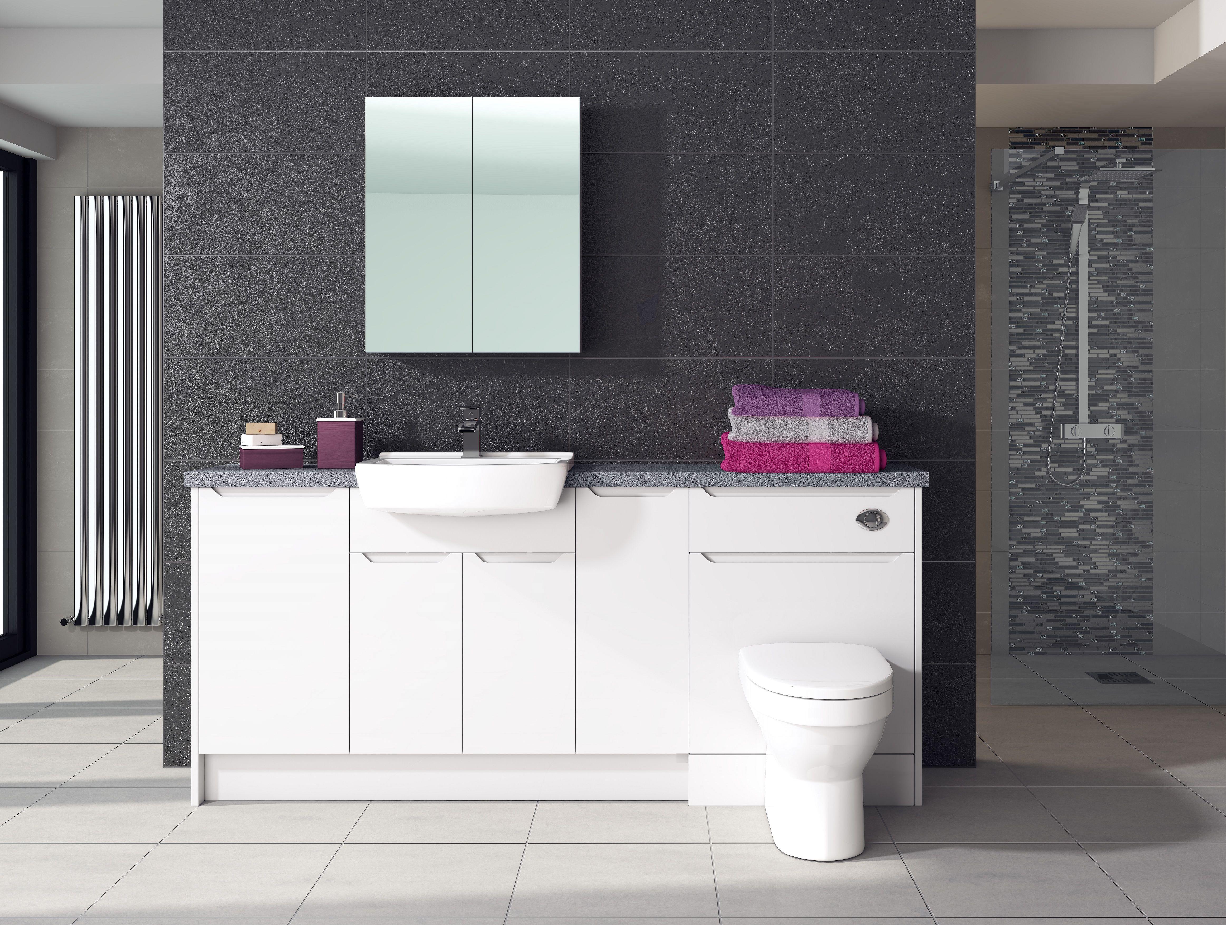 Amaris White Gloss Sculptured Fitted Furniture Visit Www Balterleybathroomfurniture Co U Fitted Furniture Fitted Bathroom Furniture Bathroom Furniture Modern