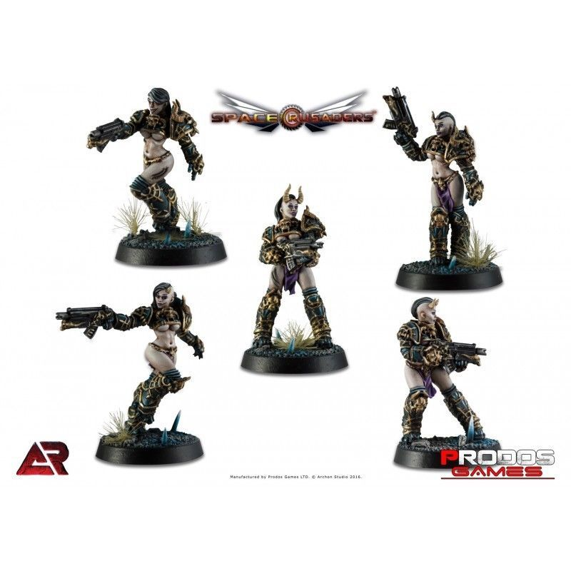 Other Miniatures and War Games 2537: Prodos Space Crusaders 32Mm