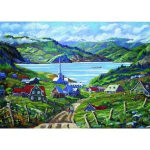"Mentally escape the hustle and bustle of the city when you-piece together this serene 1000-piece jigsaw puzzle by Ravensburger. Completed puzzle measures 27"" x 20""."