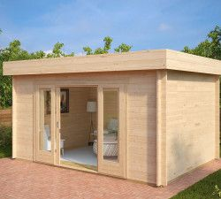 gartenstudio gartenhaus mit schiebet r jacob e moderne gartenh user gartenhaus haus garten. Black Bedroom Furniture Sets. Home Design Ideas