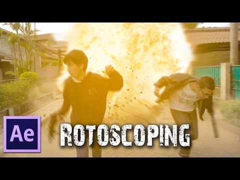 After effects tutorials rotoscoping, roto brush & ice bucket.