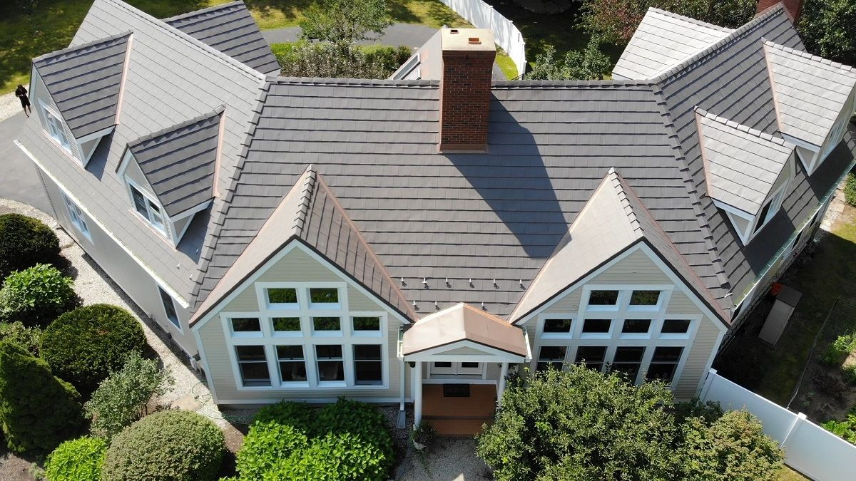 Metal Vs Asphalt Classic Metal Roofs Llc Stow Ma Roof Shingles Metal Roof Slate Shingles