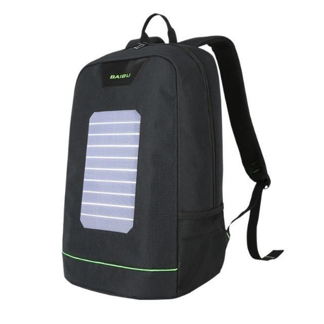 93758c61c876 External USB Solar Charge Backpack for Men Women Laptop Backpack ...