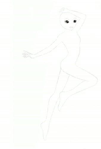 ausmalbilder topmodel körper
