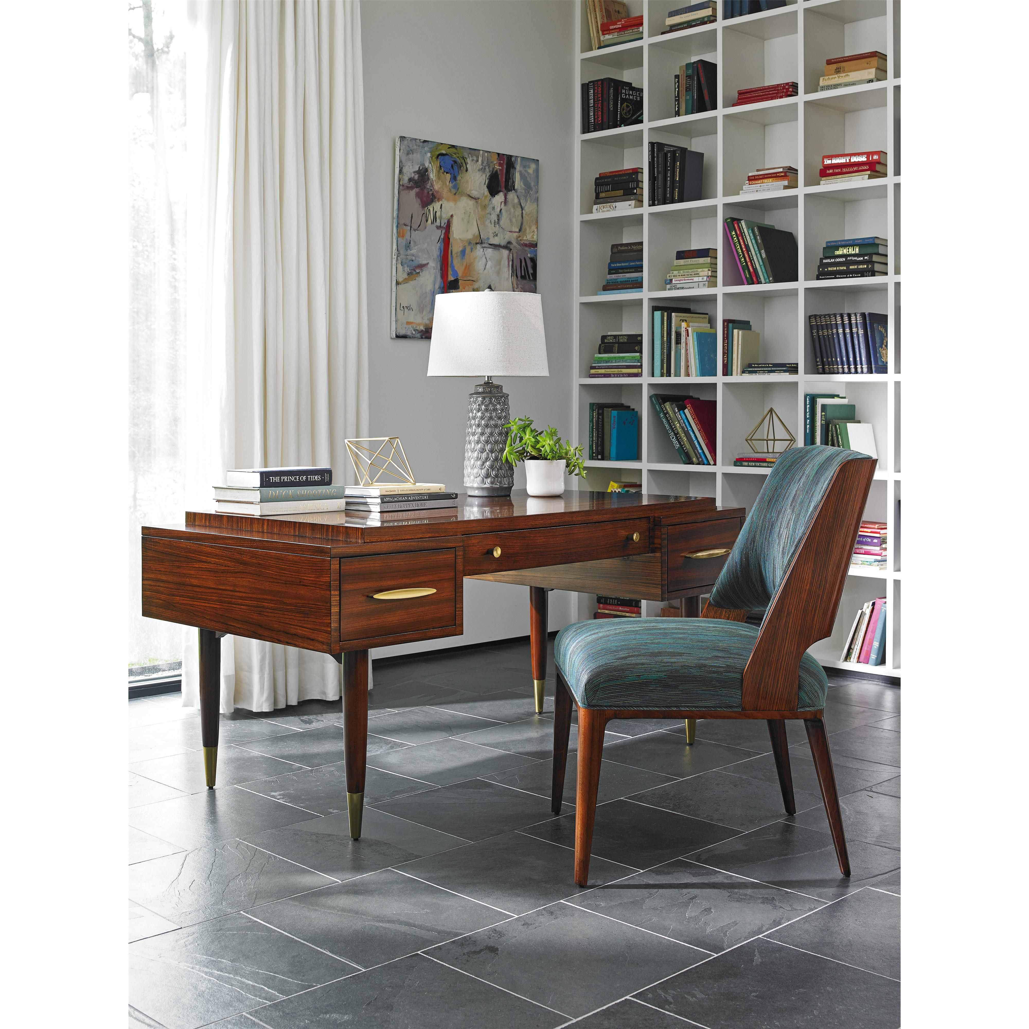 TAKE FIVE Harrison Mid Century Modern Desk With Drop-Front