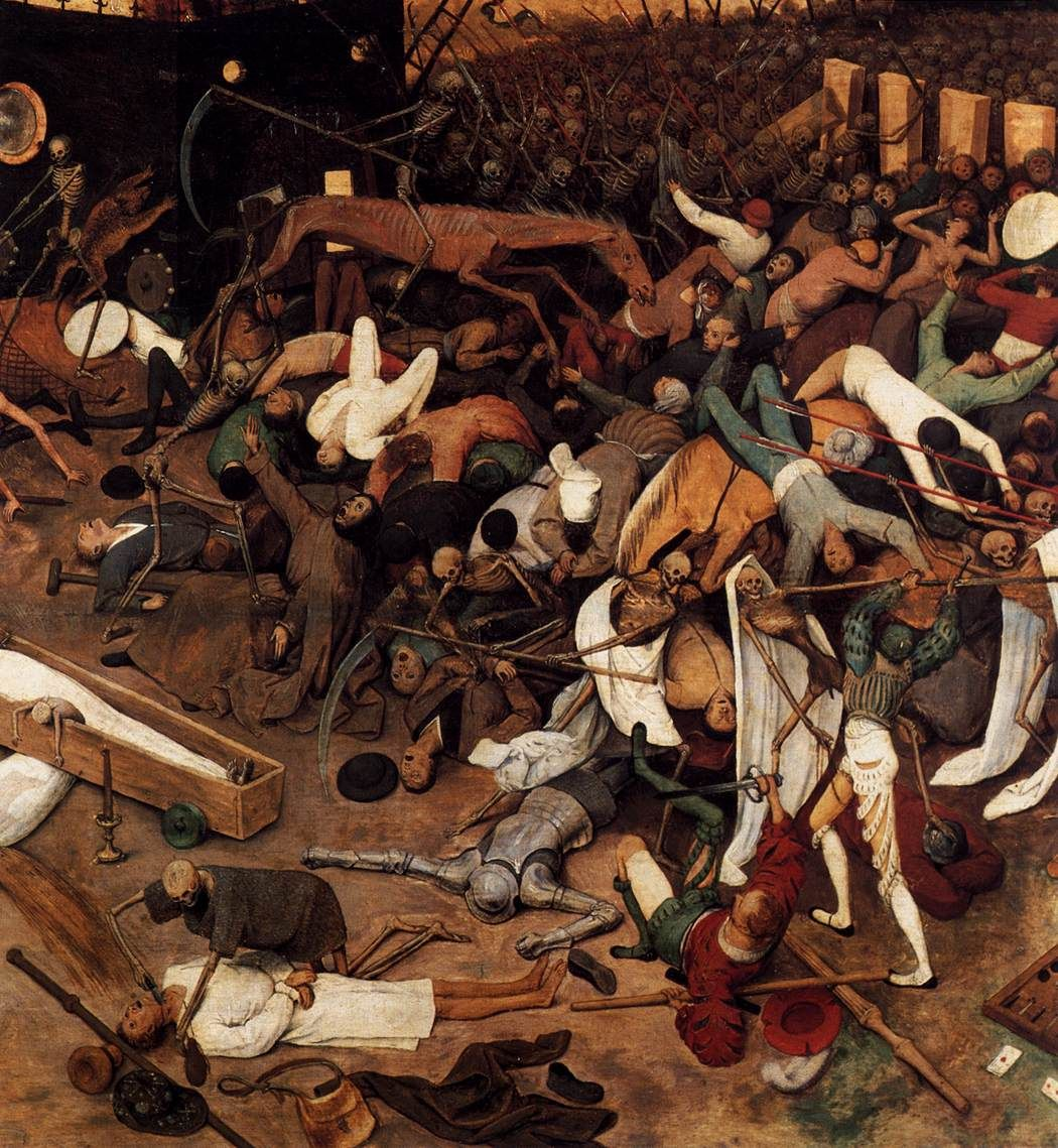 Detail on Pieter Brueghel's The Triumph of Death c. 1562. Oil on panel, Museo del Prado, Madrid