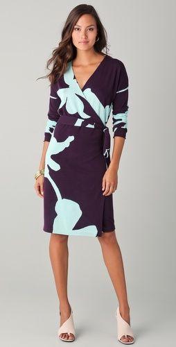 Kinaya Wrap Dress | Diane von Fürstenberg, Mode frisuren und Mode ...