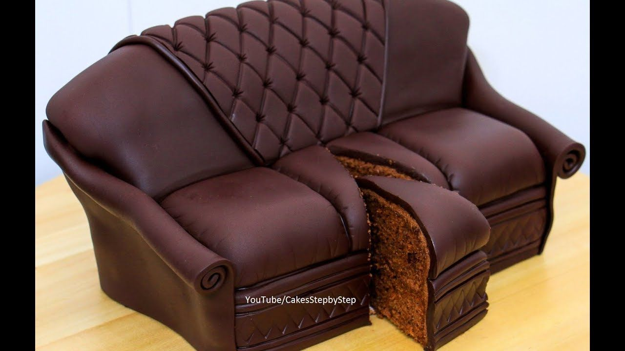 Chocolate Sofa Cake By Cakes Stepbystep Youtube Chocolate Sofa Chocolate Garnishes Decorate Your Own Cake