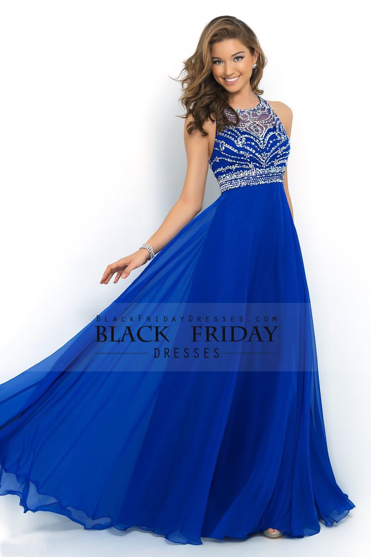halter alineprincess prom dresses tulle and chiffon sweep