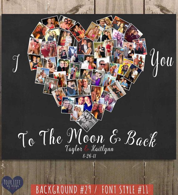 To My Girlfriend I Love You To The Moon /& Back Vertical Paper Poster No Frame